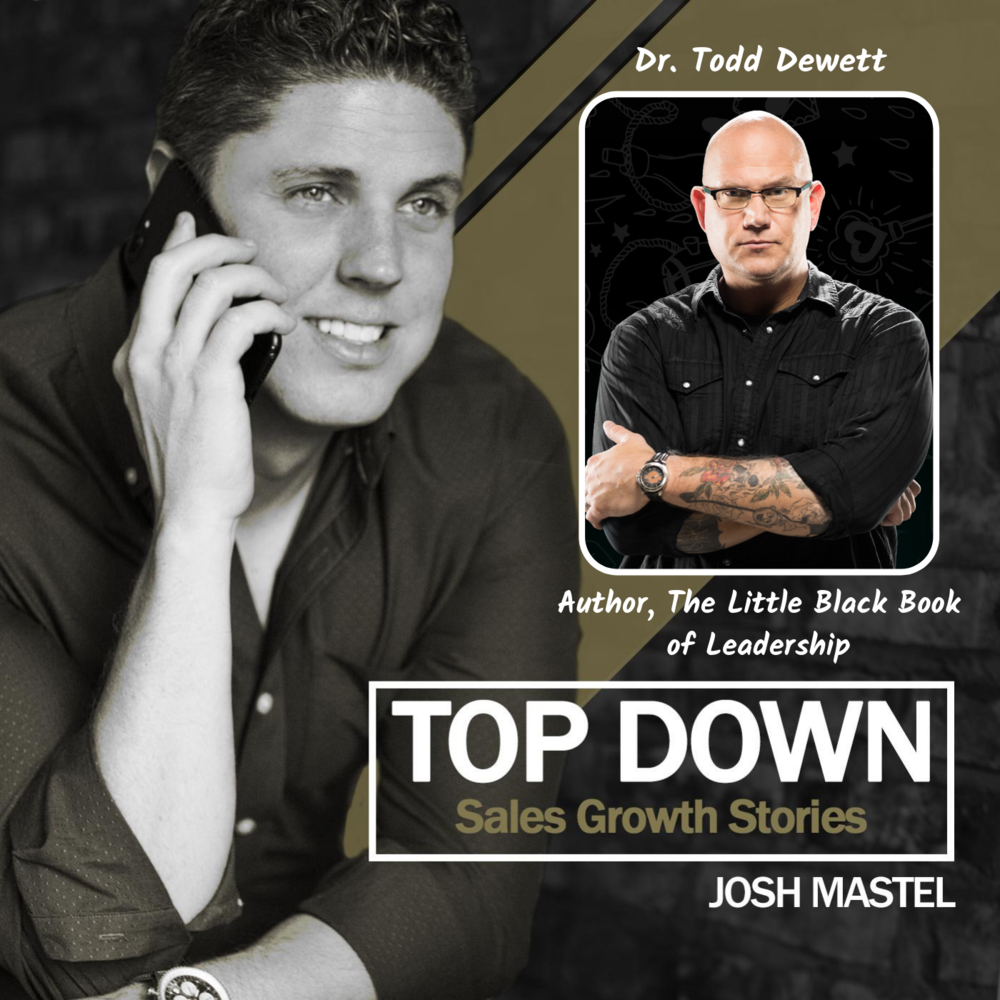 """""""Leaders, Get over your damn self!"""" - With and Author and leadership expert Dr Todd Dewett"""