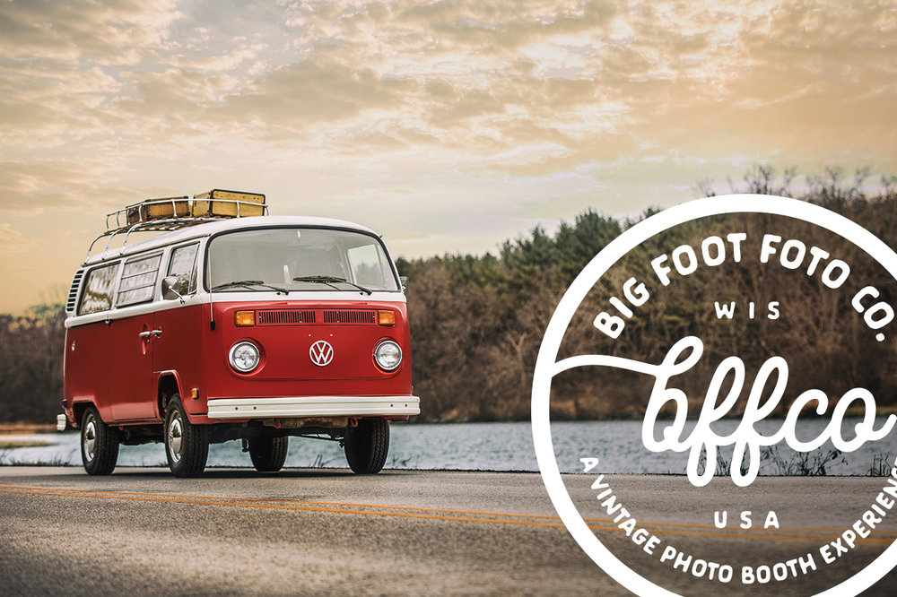 Big Foot Foto Co Volkswagen Bus Photo Booth, Lake Geneva WI.