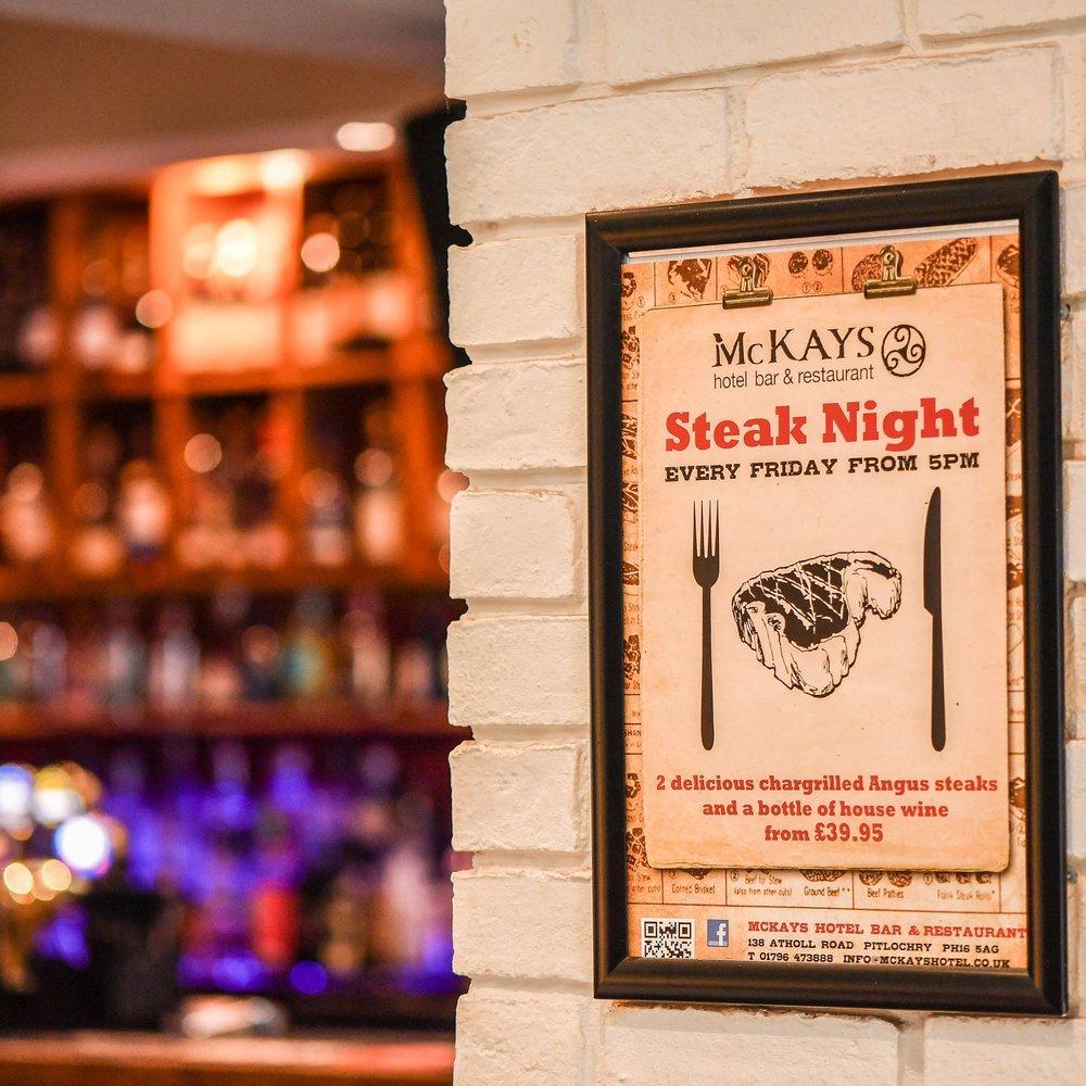 Steak Nights - Friday night is Steak Night at McKays