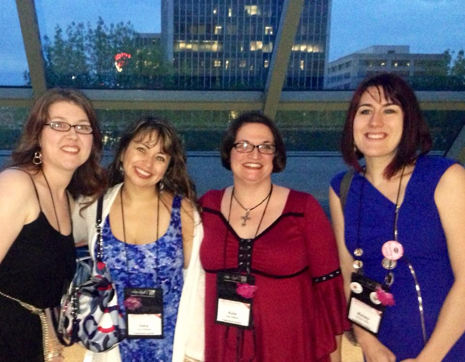 L to R: Urban Fantasy authors Cecy Robson and Kate SeRine and Harlequin Presents QUEEN Maisey Yates. (pronounced MAY-SEE!)