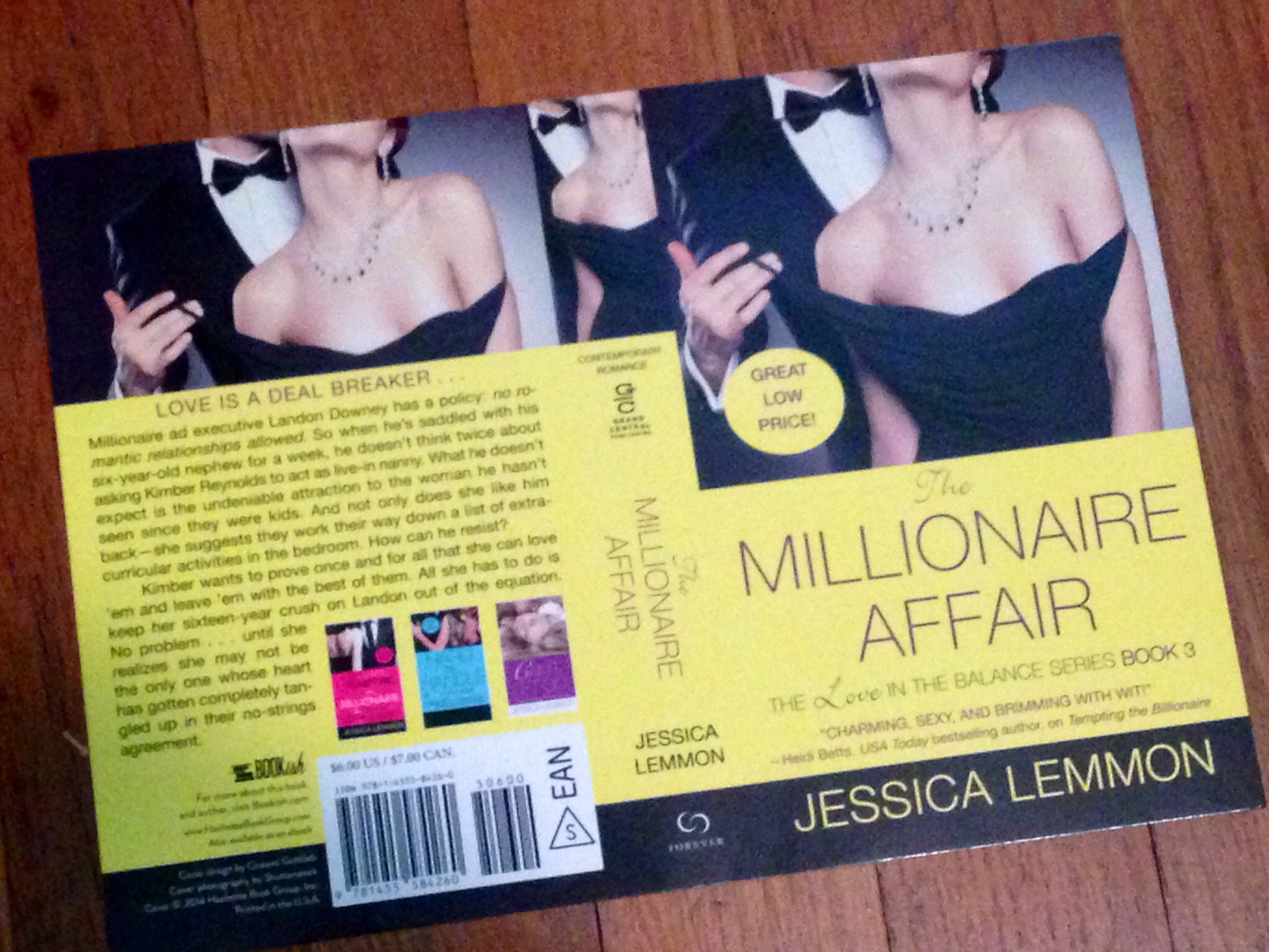 Cover flat for The Millionaire Affair