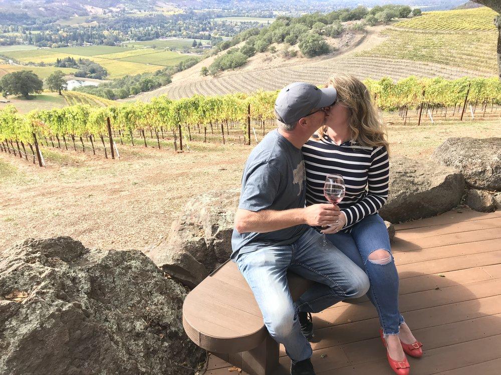 Overlooking Kunde Winery