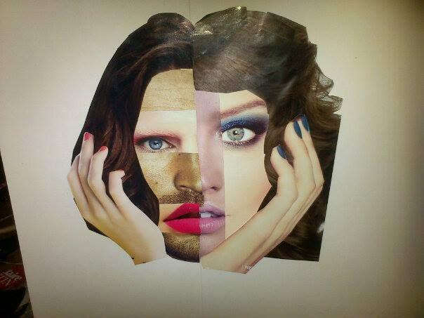 Collage - Study on being transgender.Artist Unknown.