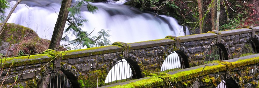Beautiful Whatcom Falls Park located just minutes drive from hamlet hotel in downtown bellingham