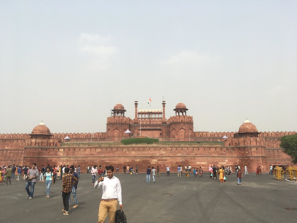 The Red Fort, looking like something straight out of  Lord of the Rings