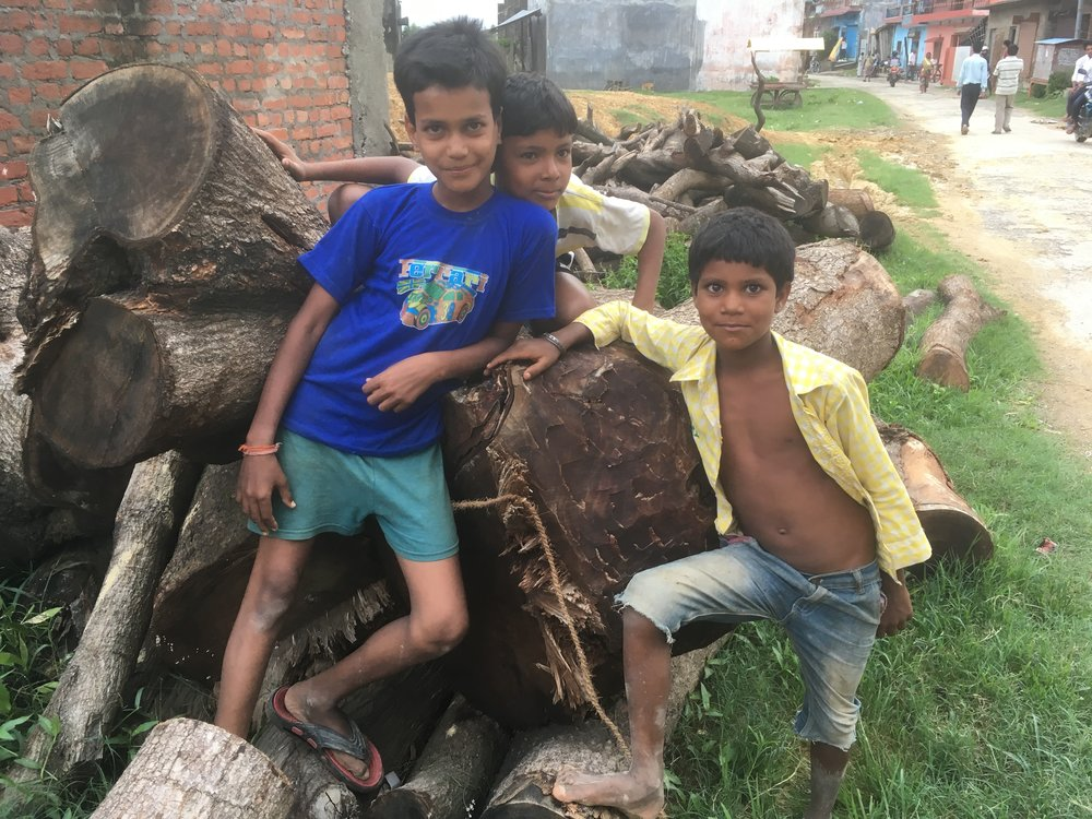Cheerfull Nepalese children