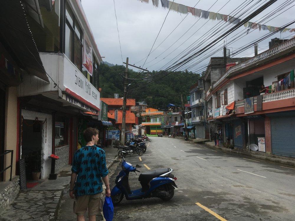 A Pokara street