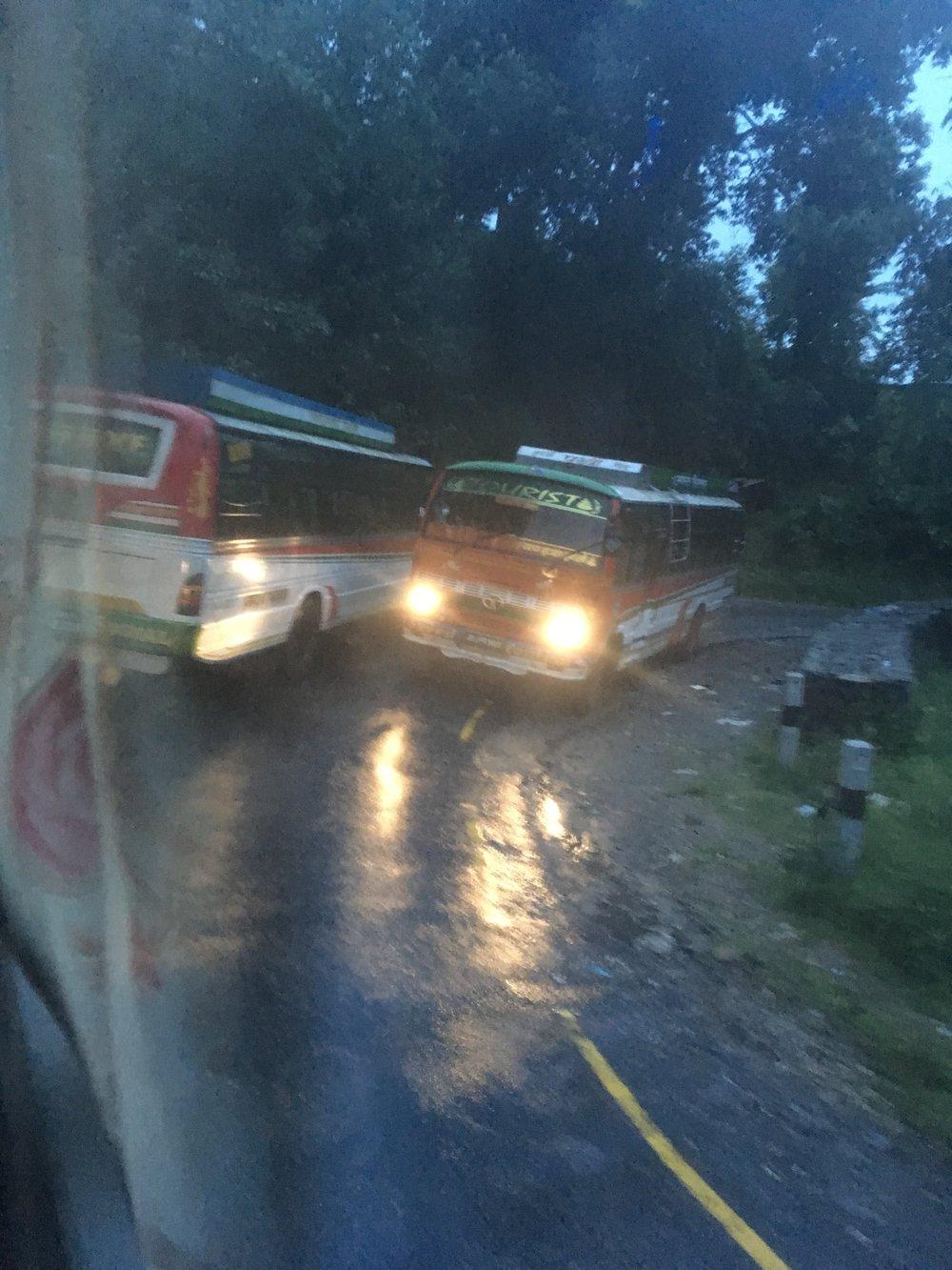 Overtaking buses