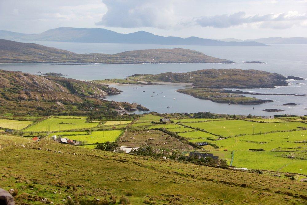 The lush green island of Ireland