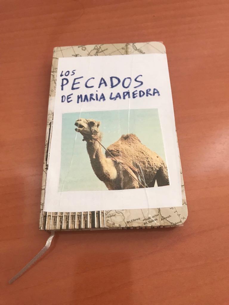 Este es el cuaderno que llevé al programa para hacerme el misterioso. Puse una foto de un dromedario en la portada porque la cara de María Lapiedra siempre me recordó a la de ese bello animal.