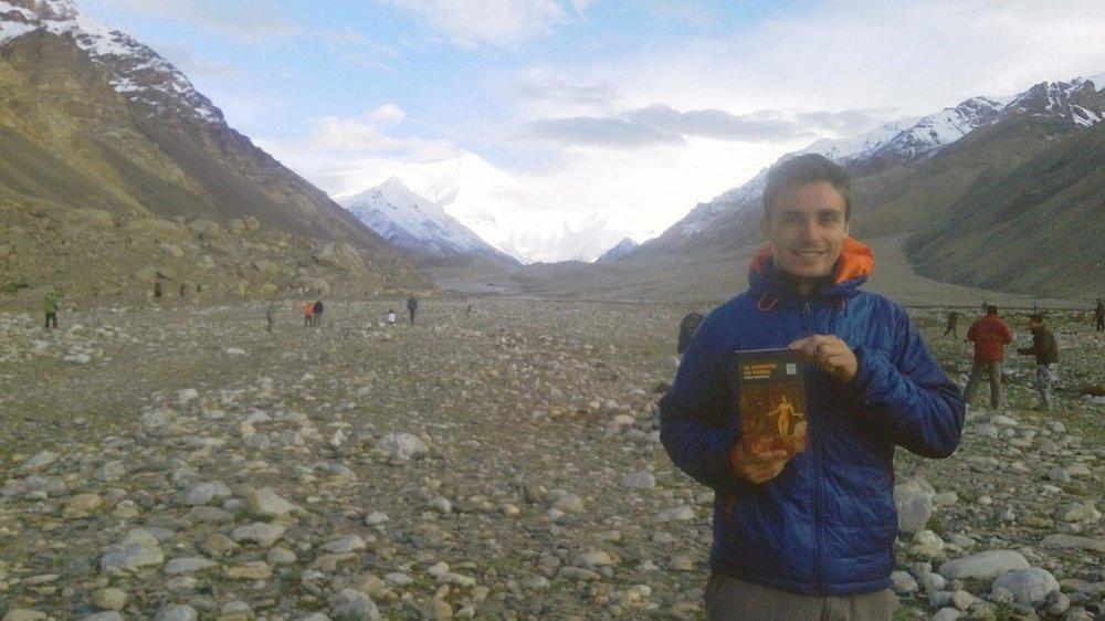 Ángel en el Tibet. Como Tíntin.