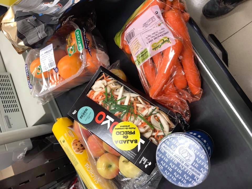 Mi compra en el super, esta tarde.