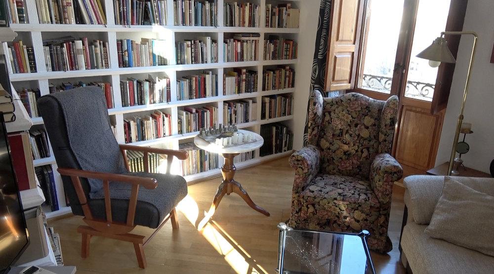 Salón de la casa de Ramón.