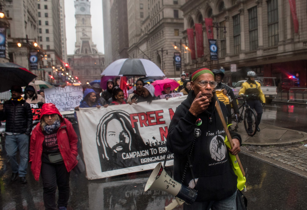 Jan 5 Peoples Constitutional Protest Party for Mumia's Freedom  Kamau Becktemba on mic