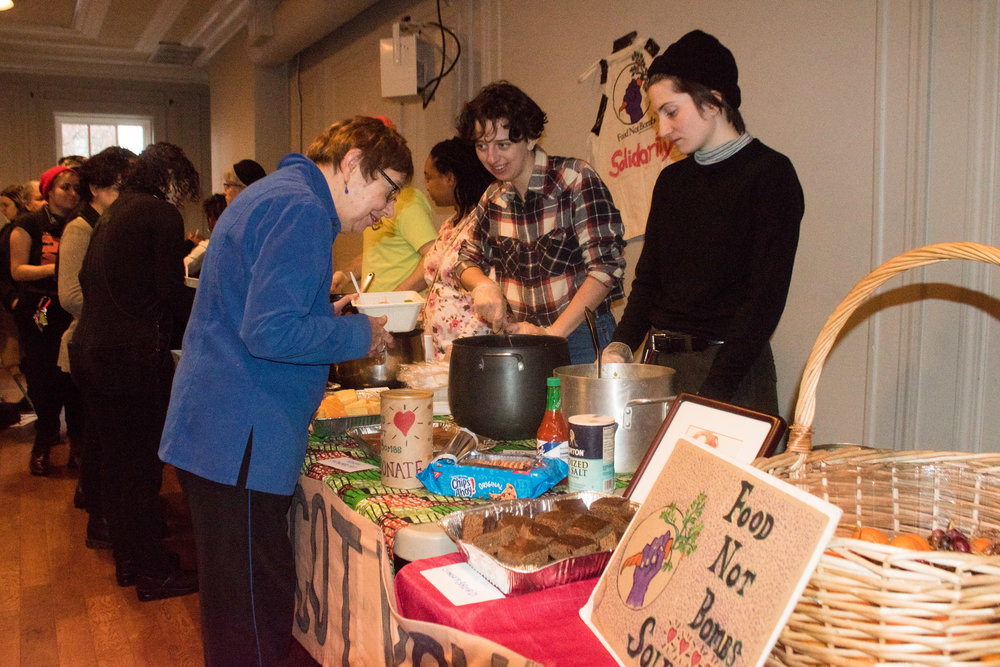 Jan 5 Peoples Constitutional Protest Party for Mumia's Freedom  Food Not Bombs Solidarity provided food.