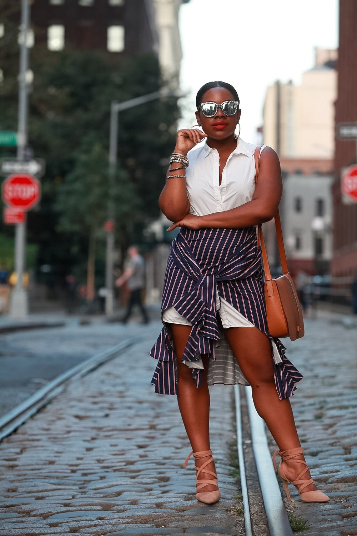 ShirtDress: H&M | Skirt: Necessary Clothing | Hoops: Delicate Raymond Jewelry | Sunglasses: Mahps Vintage | Bangles:Vintage | Bag: Gap | Heels: Aldo       Photographer: Leidy Beltran  (@leidybeltran )      xx- Christian Joy