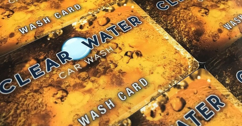 Wash card - Pay for 5 washes, get a 6th FREE, all on 1 convienent card.