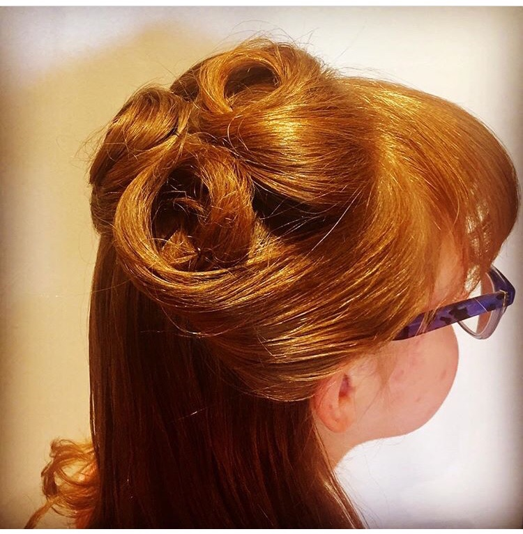 Red Head Up-do