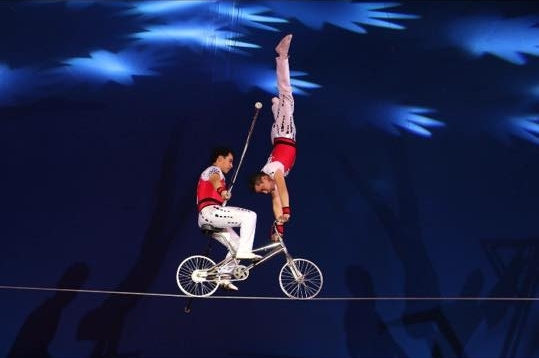 Bicycle on High Wire