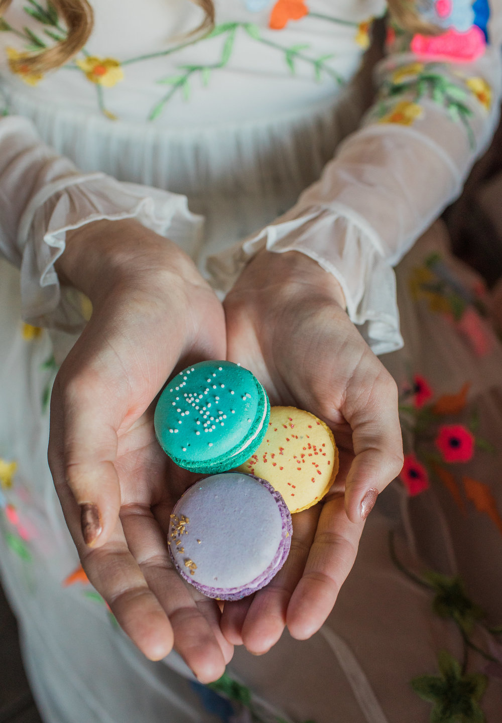 macaroons by  Belle e Dolce , model Erin Marie, photo by  Casey Brodley