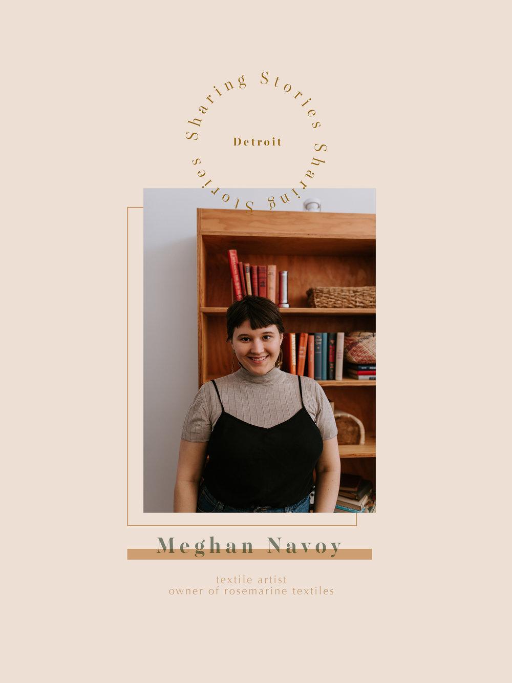 Meghan Navoy (me) owner of Rosemarine Textiles - textile artist and biz lady extrordinaire ;)