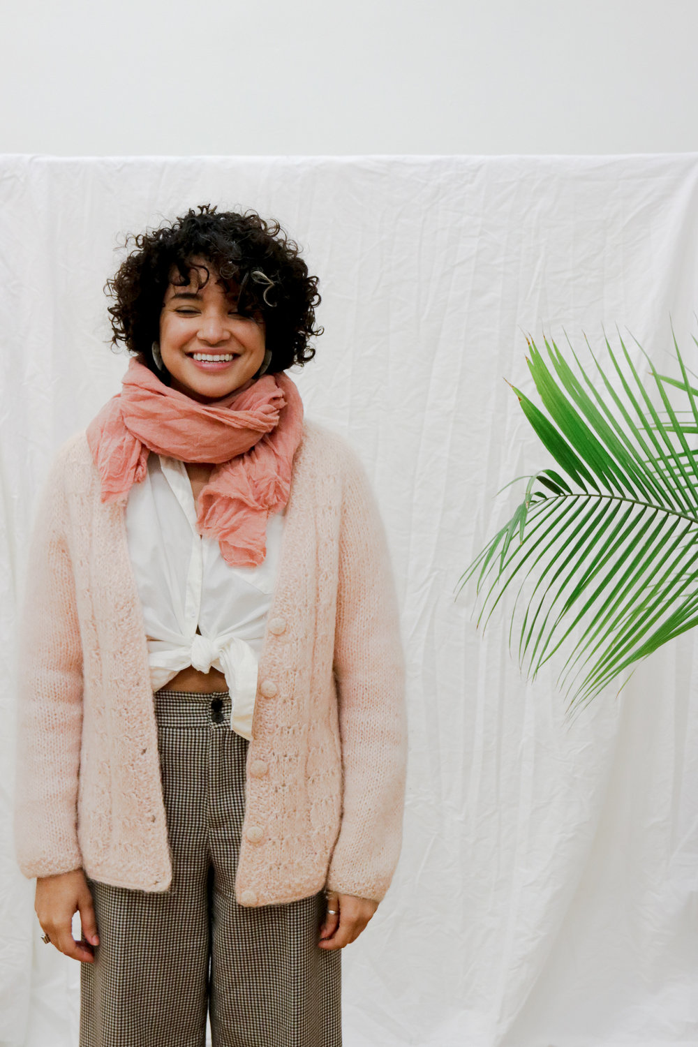 Naturally Dyed Wool Gauze Scarf in Coral Rosemarine Textiles - $120