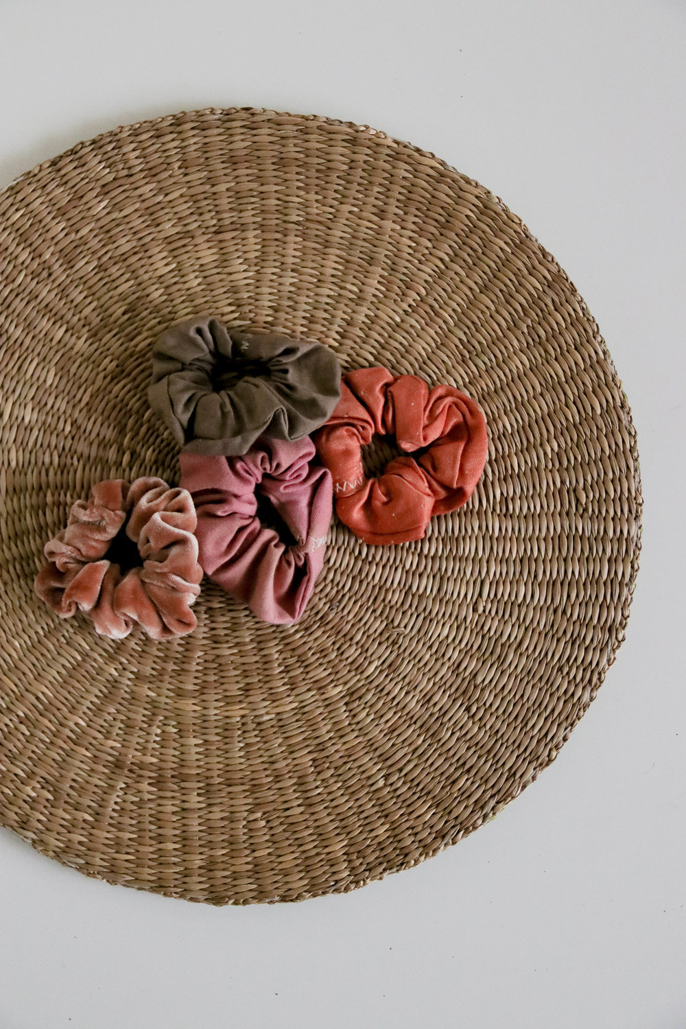 Naturally Dyed Hair Scrunchies