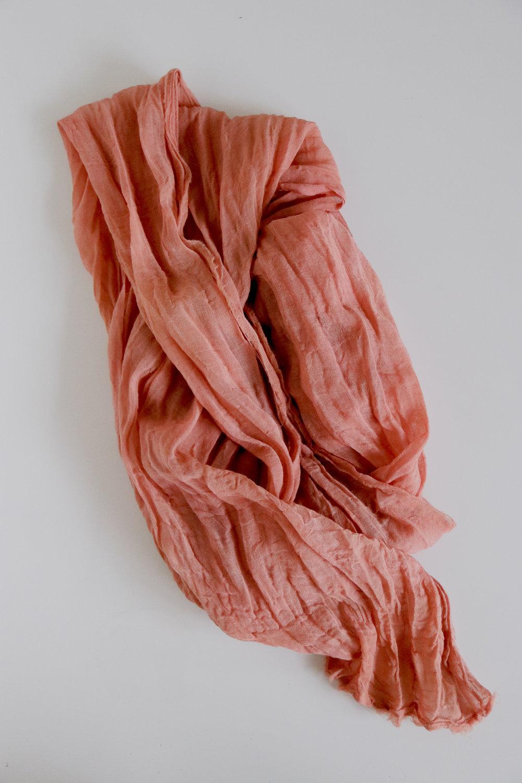 Rosemarine Textiles Coral Wool Gauze Scarf