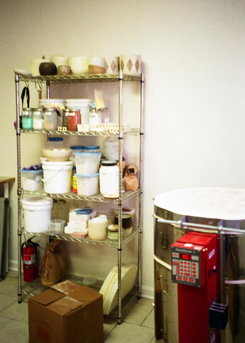 kiln and clay supplies