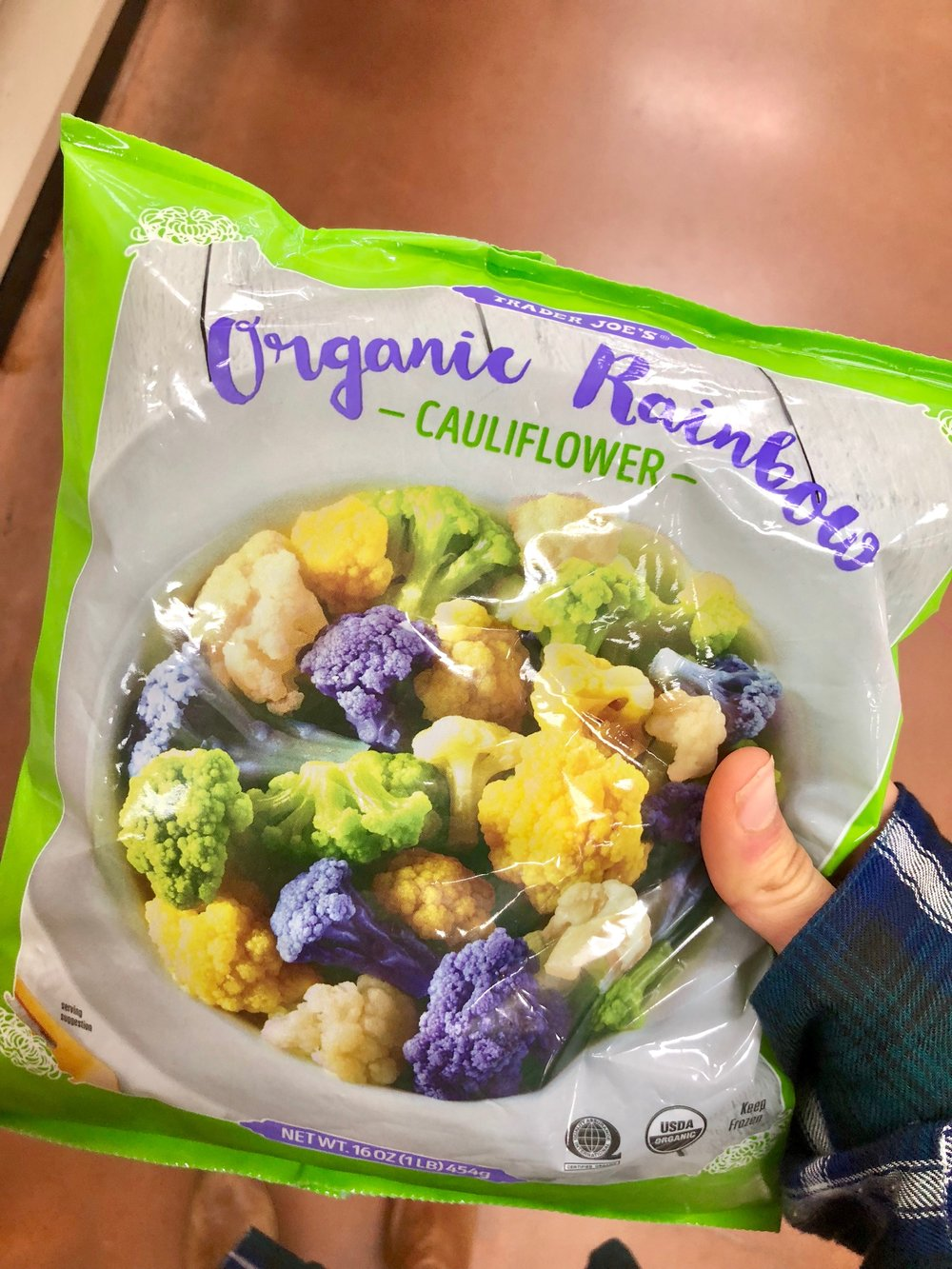 Nothing fancy, just steamed cauliflower here…. but it's rainbow colored which makes everything more fun in my opinion. If you is lame and want white cauliflower they have that too.