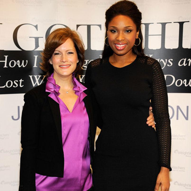 Liz with  Jennifer Hudson
