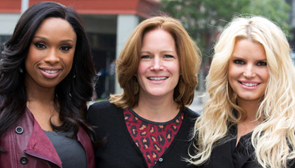 Liz with  Jennifer Hudson and Jessica Simpson