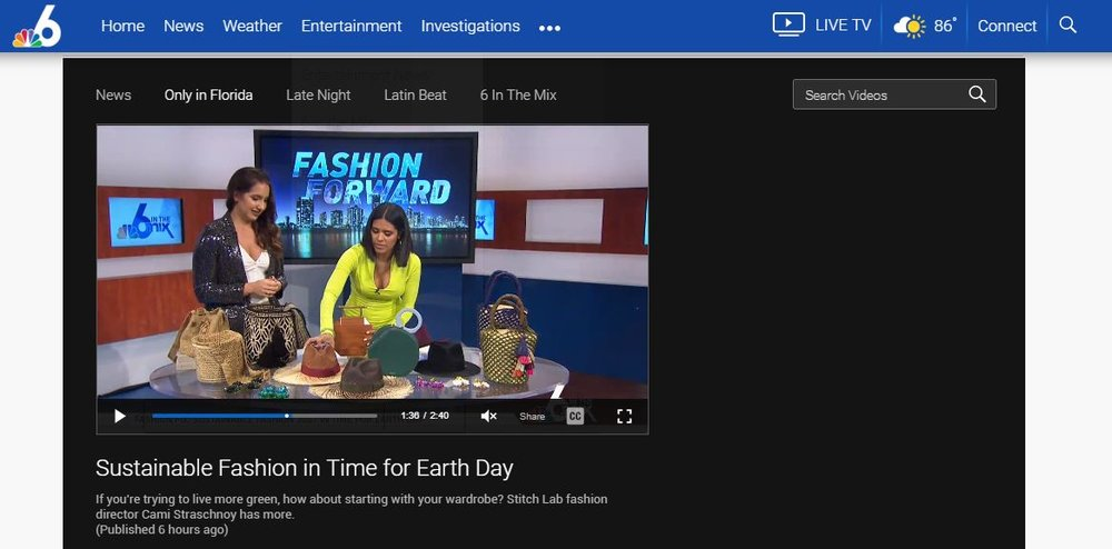 nbc miami - Sustainable Fashion in Time for Earth DayIf you're trying to live more green, how about starting with your wardrobe? Stitch Lab fashion director Cami Straschnoy has more.