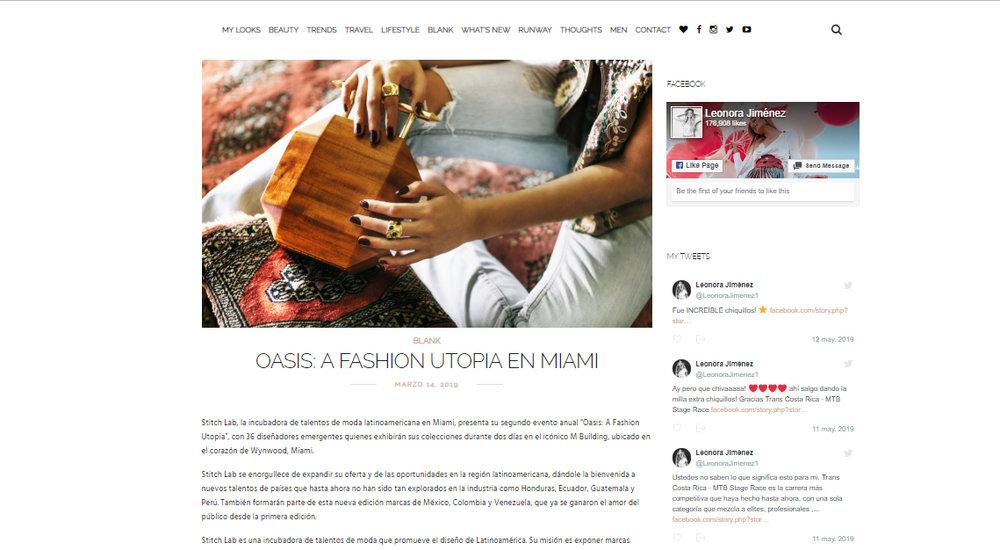 """NOT SO BLONDE - Stitch Lab, la incubadora de talentos de moda latinoamericana en Miami, presenta su segundo evento anual """"Oasis: A Fashion Utopia"""", con 36 diseñadores emergentes quienes exhibirán sus colecciones durante dos días en el icónico M Building, ubicado en el corazón de Wynwood, Miami."""