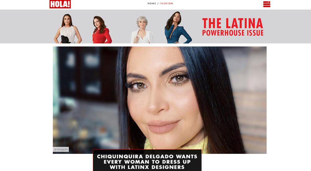 HOLA! - Chiquinquirá Delgado is a multi-talented woman—she's an actress, model, TV host and designer—and she does it all with incredibly good style. The Venezuelan beauty's latest gig is acting brand ambassador for Stitch Lab, a Miami-based fashion hub for up-and-coming Latinx fashion designers.