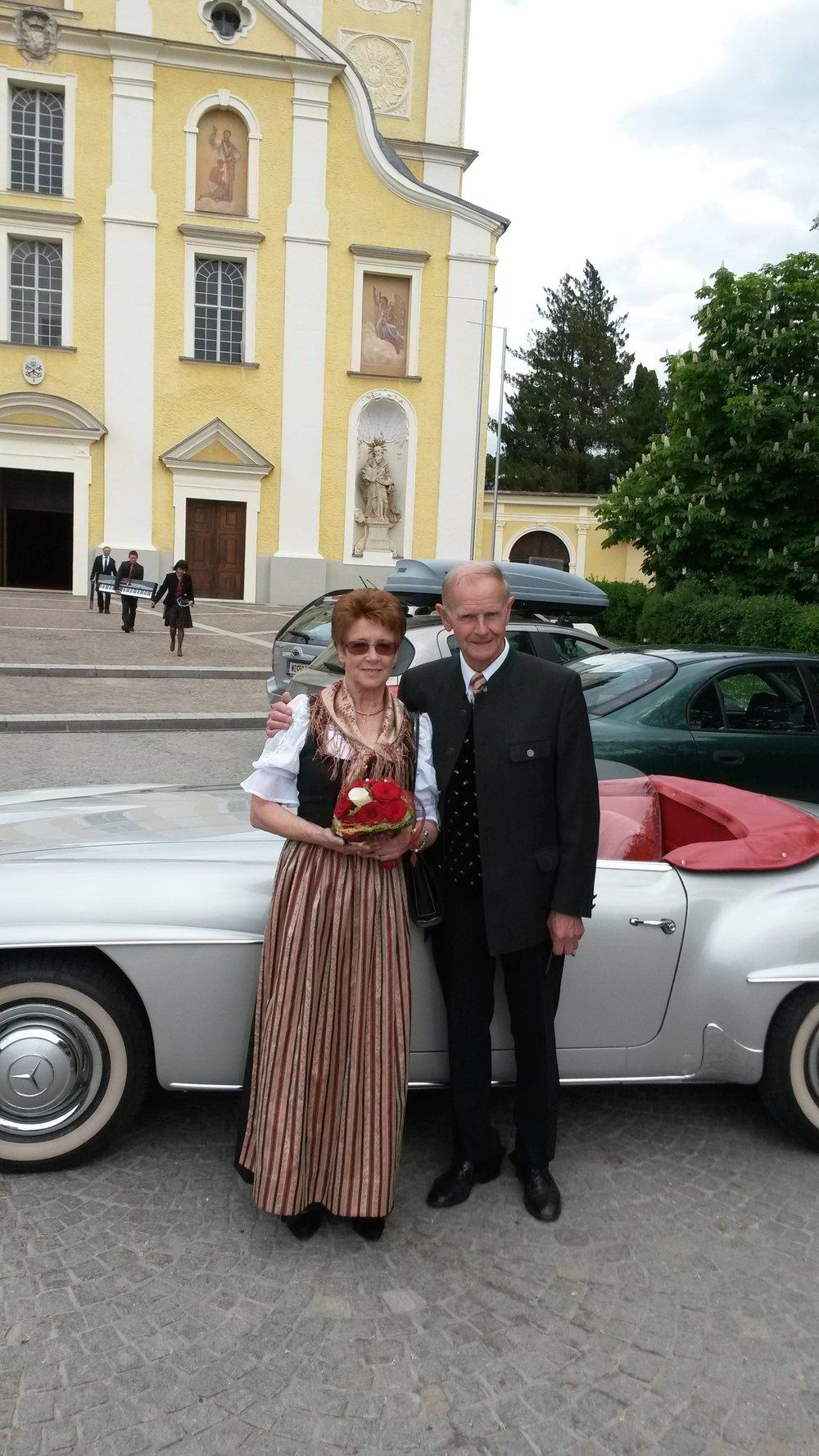 - Christine und Andreas Priebernig bei ihrem 50. Hochzeitsjubiläum im Mai 2015