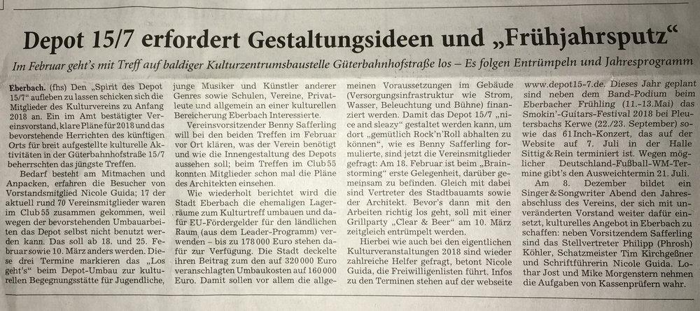 (Quelle Rhein-Neckar-Zeitung vom 22. Januar 2018)