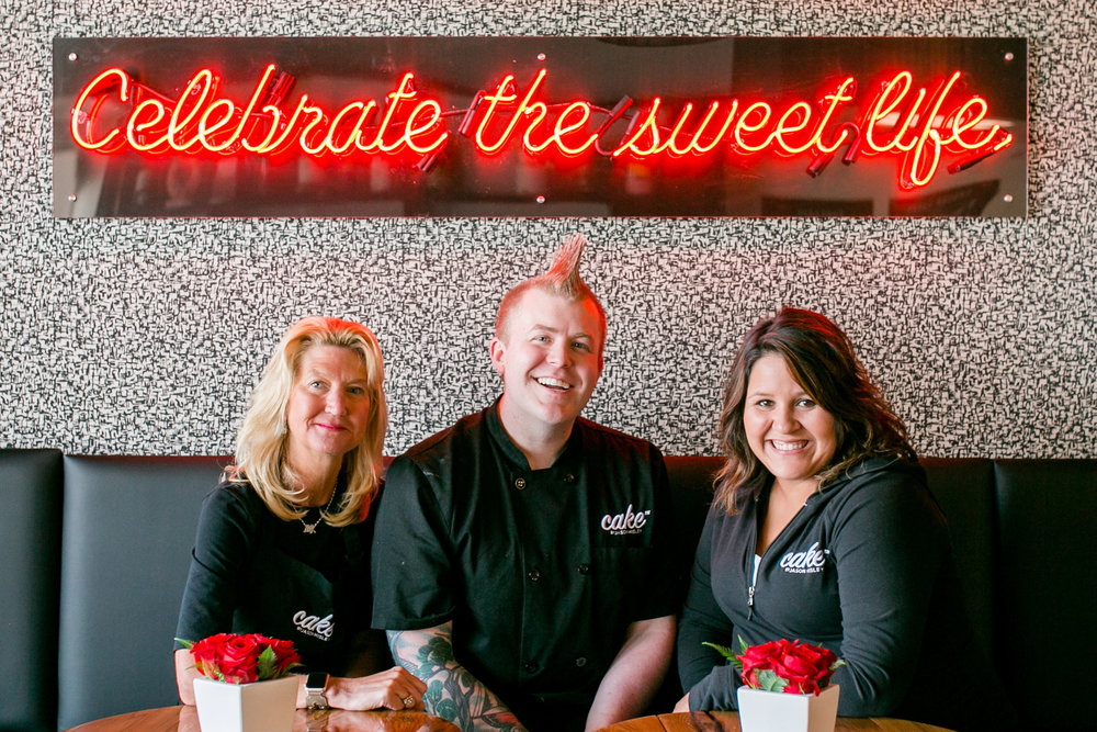 Mary Kay Nabit, Co-Owner | Jason Hisley, Founder & Executive Chef of Cake™ | Kelly Sokolis, Owner & Wedding and Event Director