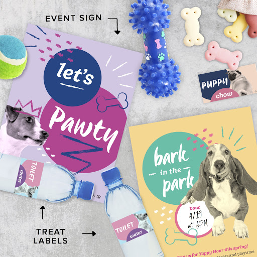 PET PAWTY EVENT BOX - You will receive pre-printed materials for 2 different event options including invitations to post and labels and table tents to decorate.The box also includes renewal and referral notices and an instant download of matching social graphics.... all for the love of our fur babies.