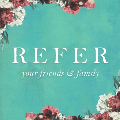 Highlight your referrals on social media. Grab your matching digital graphic  here .