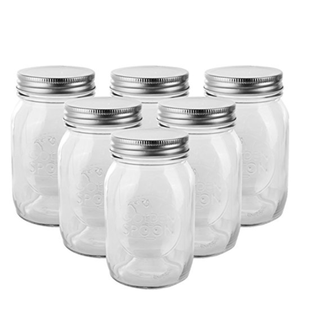 Golden Spoon Mason Jars