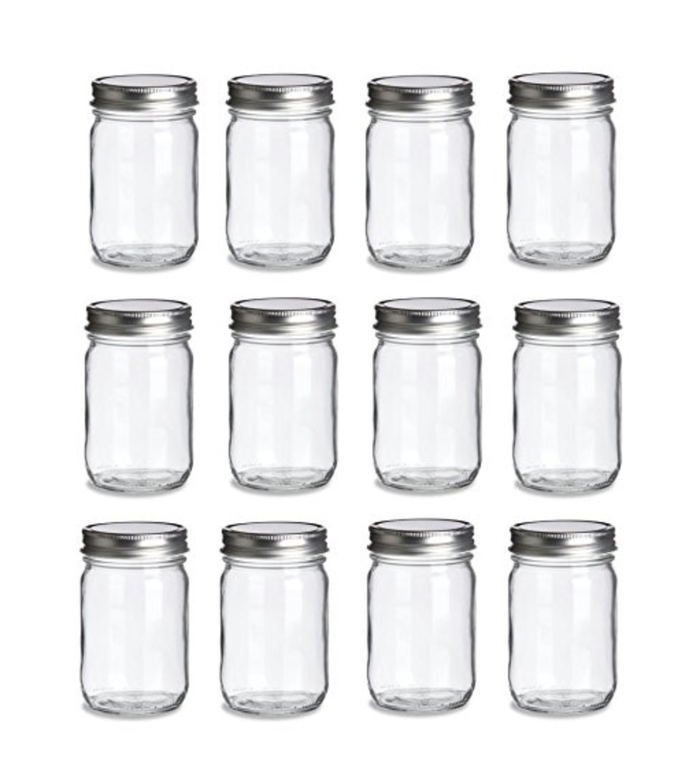 12-Pack Mason Jars - Plain