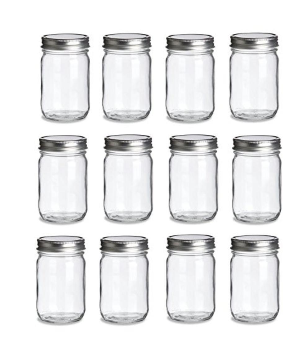 12-Pack Mason Jars -Plain