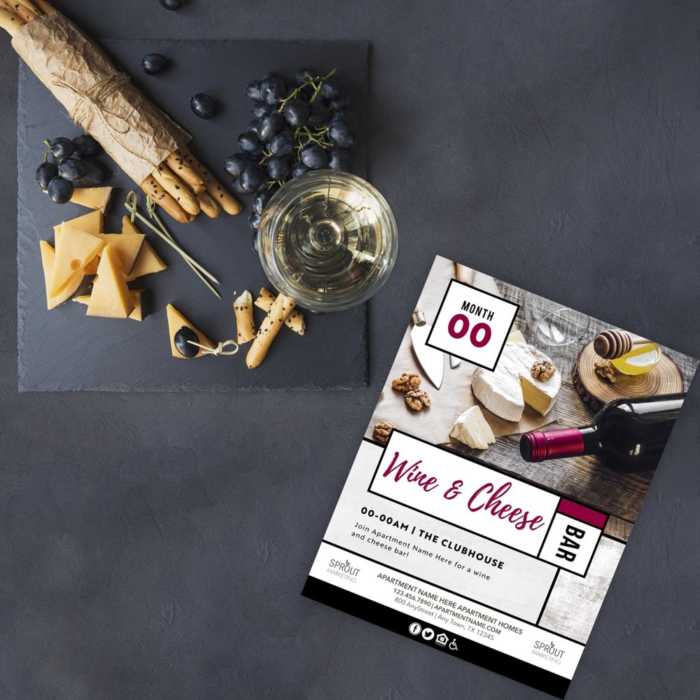 Wine And Cheese Are Never A Bad Idea!  Customize Your Event Design  Here.