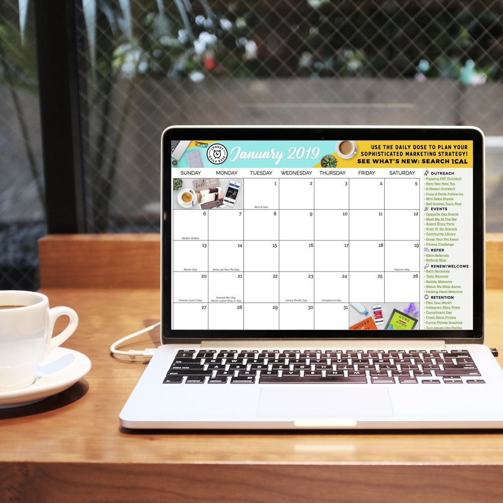 Grab The Monthly Calendar Here To Get Started!