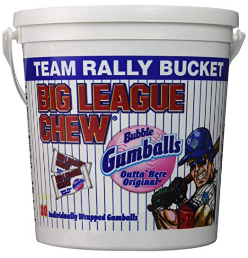 Big League Chew - 80 Individually Wrapped Gumballs