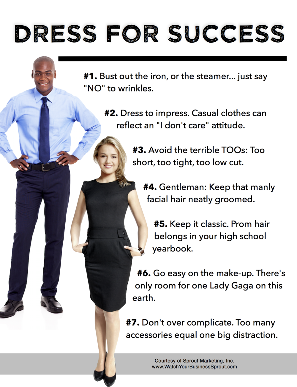 Click to download our Dress for Success Tip Sheet here.