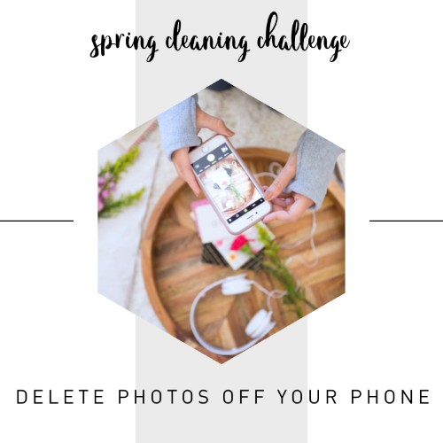 Delete a minimum of 100 unnecessary photos on your phone. (trust us on this one, our camera roll tends to get cluttered)