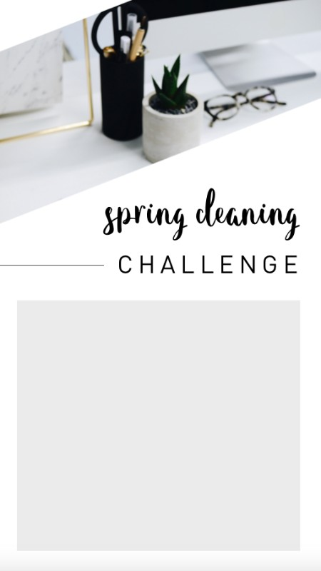 We've given you an IG story template to fill in your own spring cleaning idea!