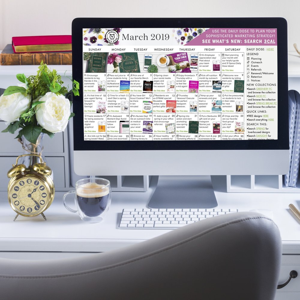 Head to the  Monthly Calendar page  on the Sprout website to get started…